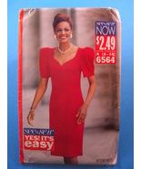 Butterick 6564 See & Sew Dress Pattern 1992 Size A 6-14 - $4.95