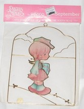 Precious Moments Enesco Capiz Shell Suncatcher September Girl with Books... - $12.95