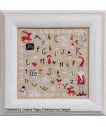 Christmas Joy cross stitch chart Barbara Ana Designs - $10.80
