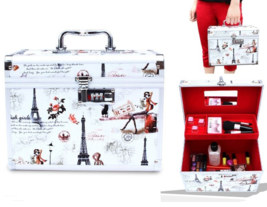 Makeup Case Make up Box 2 Tiers with Mirror inside - $62.03