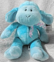 GANZ HE9835 Polyester Fiber 11 Inch Blue Tie Dye Lambie With A Satin Bow image 1