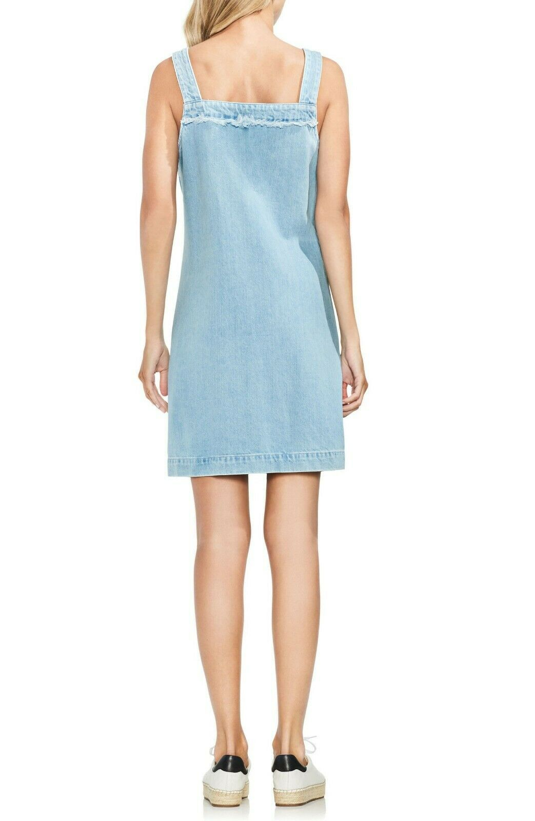 Vince Camuto WOMEN'S Cotton Denim Shift Dress CORISICIA WASH SIZE SMALL