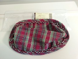 Longaberger Small Loaf Biscuit Basket Holiday Plaid Corded Fabric DI Liner Only - $8.86
