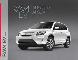 2013 Toyota RAV4 EV sales brochure sheet 13 US RAV 4 ELECTRIC - $7.00
