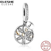 Authentic Pandora Charm Bead 925 Sterling Rose Gold Family Tree Silver Dangle - $14.99