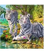 Full  Diamond 5D DIY Diamond Painting Embroidery  Family Lions  Mosaic D... - $15.00