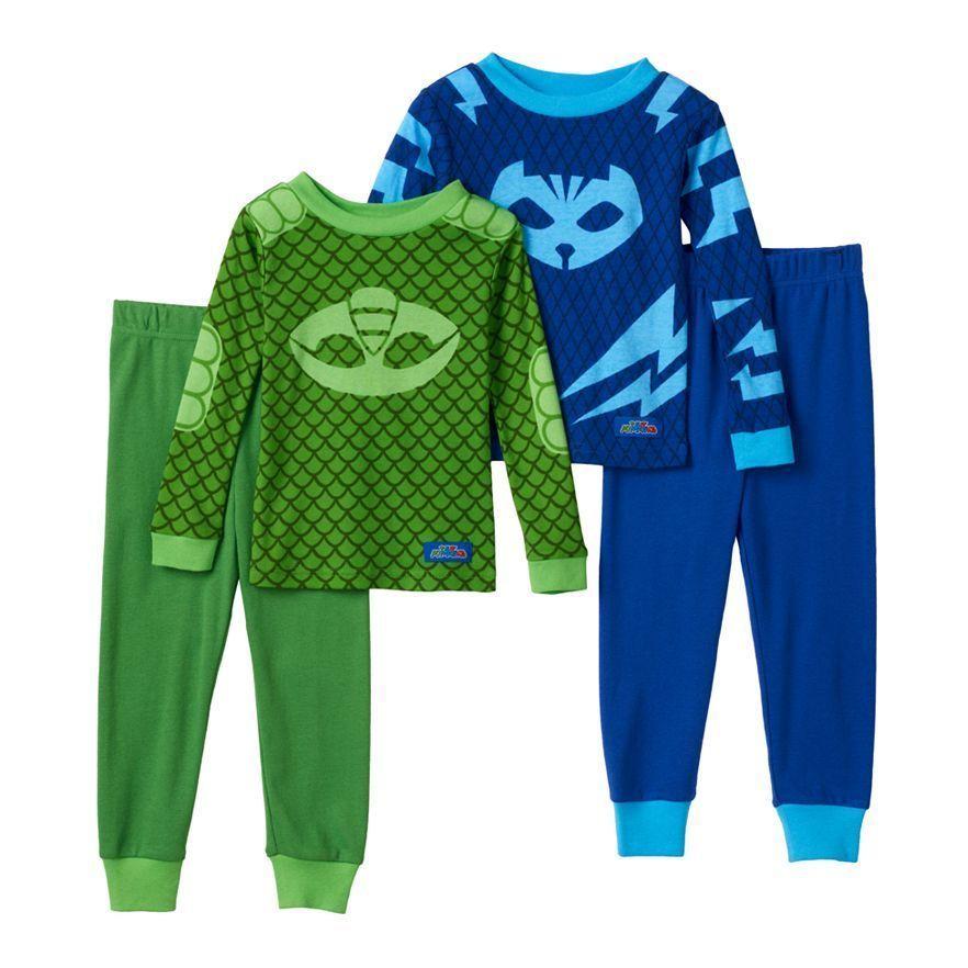 4b17a47bf9 NWT  38 4-Piece PJ MASKS Cotton Pajamas (2 and 18 similar items