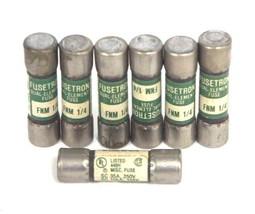 LOT OF 7 BUSSMANN FUSETRON FNM 1/4 FUSES 1/4AMP, 250VAC, FNM14