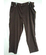 NEW DENIM & Co. QVC Women's Plus Size Pants 24W NWT stretch brown CAREER... - $24.74