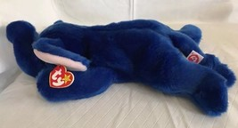 TY Beanie Buddy Peanut the Elephant Royal Blue Large 1998 Retired RARE M... - $19.79