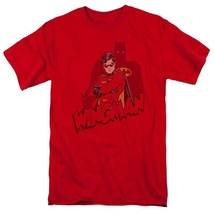 Wingman Batman DC Comics Green Lantern Retro red graphic cotton t-shirt BM2021 image 1