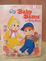 Reduced  Cry Baby Beans and Biffy Beans Paper Dolls Book Uncut from Mattel - $10.00