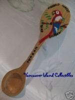 EMERALD FOREST PARROT Coombs BC. Souvenir Spoon