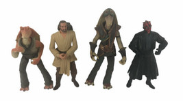 "4 Star Wars Action Figures Lot 1998 1999 Phantom Menace 3/4"" - $24.74"