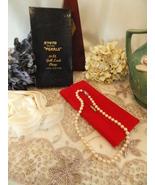 """Mid Century Kyoto Cultura Pearls 18"""" Hand Strung Necklace W Original Cas... - $34.99"""