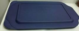 Original Pyrex Casserole Medium Rectangle Blue Plastic Lid 232-PC - $14.99