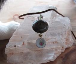 Jasper & china plate pendant. - $17.00