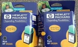LOT OF 2 ~ Hewlett Packard HP 51626A Inkjet Cartridge Sealed ~ Black ~ E... - $13.46