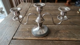 "Vintage Excellant Condition FB Rogers Silverplate Candelabra 12"" x 7"" - $34.65"