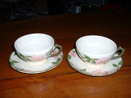 Franciscan Desert Rose cups and saucers;  (1949-1953) - $14.95
