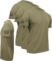 3 PACK Coyote Brown AR 670-1 Tactical US Athletic Muscle T-Shirt & Loop ... - $41.99+