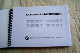 BMW 7 series euro Owners Manual Service 745i 735i 732 728 new factory re... - $69.29
