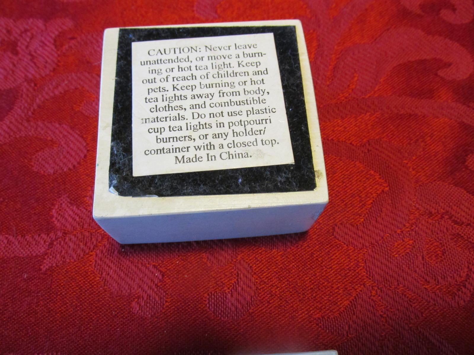 Ibis and Orchid Vintage Tea Light Holder Trinket Box