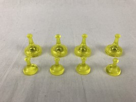 Sorry Sliders Clear Yellow Pawn Replacement Game Pieces 4 Regular 4 Sliding - $6.97