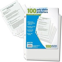 Office Storage Binder Sheet Protectors 100Ct Binders Organizer Papers Fi... - $12.06