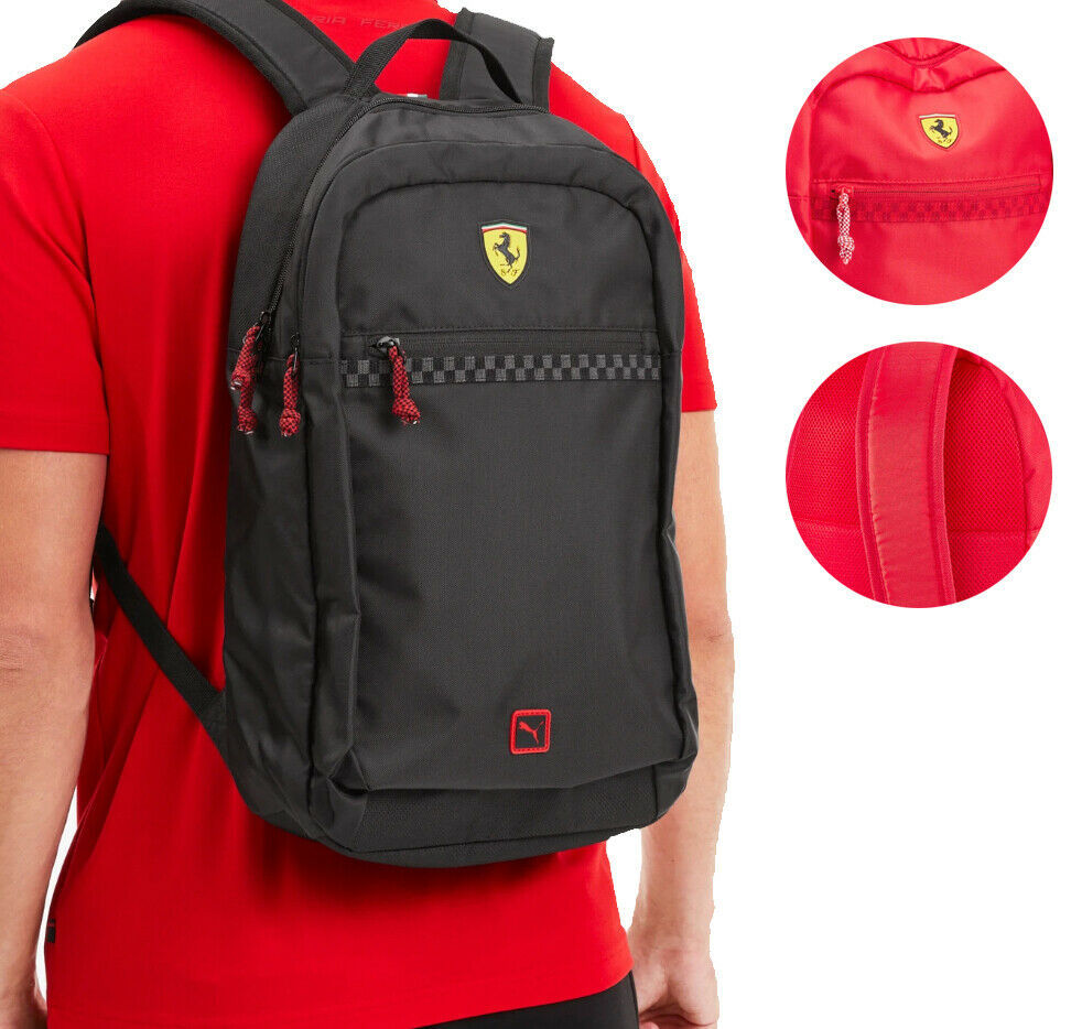 Puma Scuderia Ferrari Fanwear Bag Laptop Sleeve Sports Car Zipper Backpack