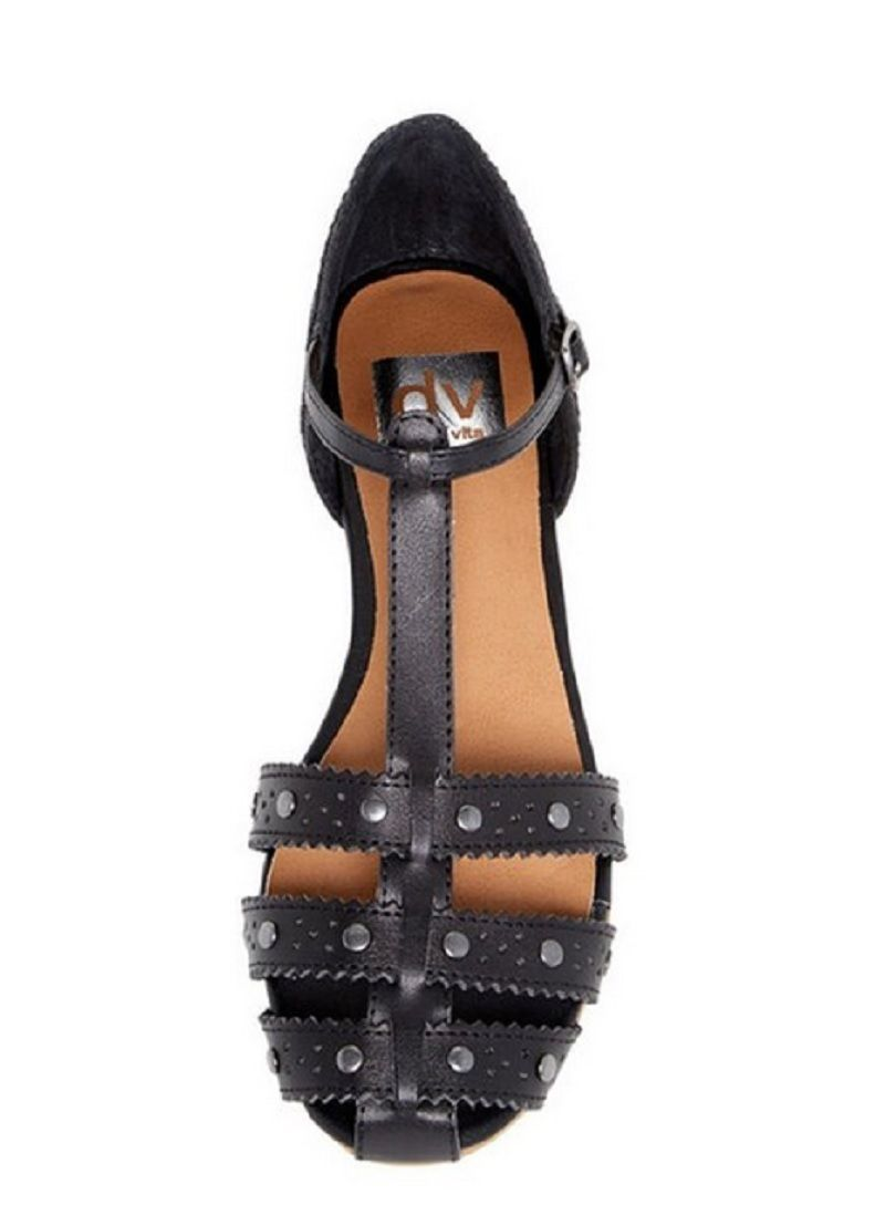 Dv By Dolce Vita Womens Zina Stella Manmade Leather Sandal Black Size 8  US