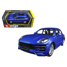 Porsche Macan Turbo Metallic Blue 1/24 Diecast Model Car by Bburago 21077BL - $33.38