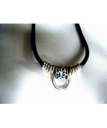 """Silver Pendant On 18"""" Adjustable Black Cord New with Tag - $14.80"""