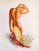 VARGAS 2-SIDED 9X12 PIN-UP GIRL POSTER HOT NUDE + 2 OTHERS FROM 1942 PAI... - $14.49