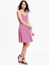 Old Navy Women Cami Dress Sundress XS S Pink Striped Criss Cross Back Fl... - €22,08 EUR