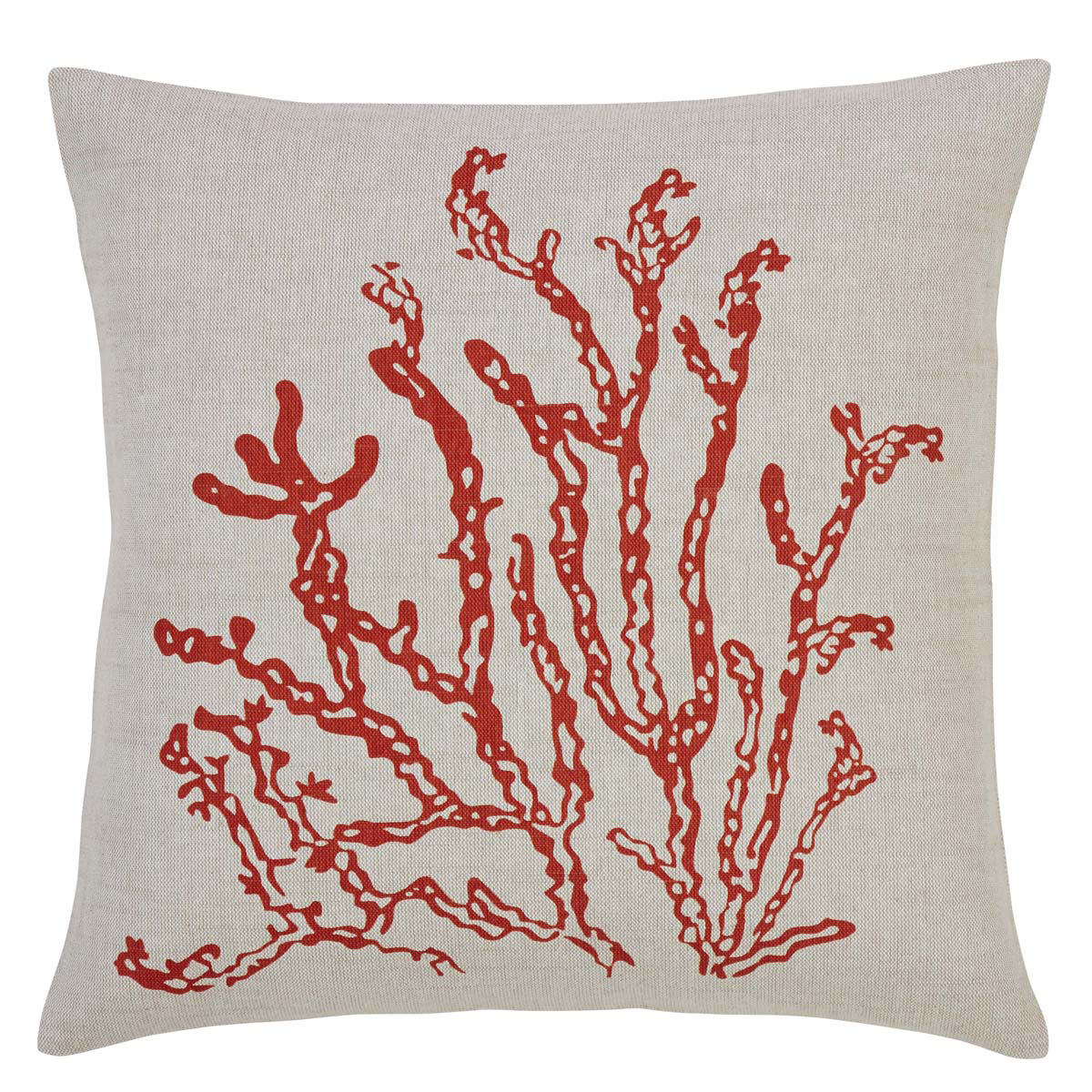 "Coral Life Pillow - 18""x18"" - VHC Brands - Country Farmhouse"