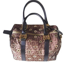 Authentic Fendi Zucca Boston limited edition handbag - $620.00