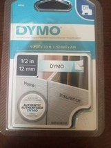 "Genuine Sealed OEM DYMO 45110 Black-On-Clear Tape, 0.5"" x 13' - $29.07"