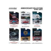 Greenlight Anniversary Collection Series 6, 6pc Diecast Car Set 1/64 Die... - $54.68