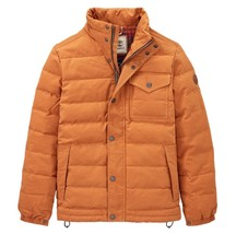 $298 Timberland Men's Mt Davis Waxed Down Jacket, Wheat. Size: Medium - $163.35