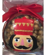 Vintage Classic Glass Ball Nutcracker Holiday Ornament In Box - $9.99