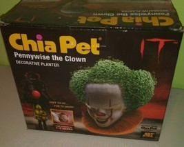 Pennywise Chia Pet The IT Movie Clown Decorative Planter Horror Scary Creepy New - $27.71