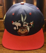 Vintage 1991 Warner Bros Snap back Hat That's All Folks Tags Acme Loony ... - $46.54