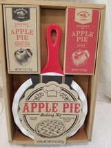Deacon Family Farms Apple Pie kit Ceramic Oven dish Pan with Handle - $9.03