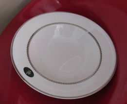 "RALPH LAUREN CLARIDGE PLATINUM VEGETABLE BOWL 11"" FINE CHINA WHITE SET O... - $59.90"
