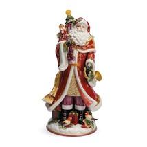 "Fitz Floyd Huge 18"" Regal Santa Ceramic Colorful Heavy Centerpiece Vase NIB 2014 - $259.99"