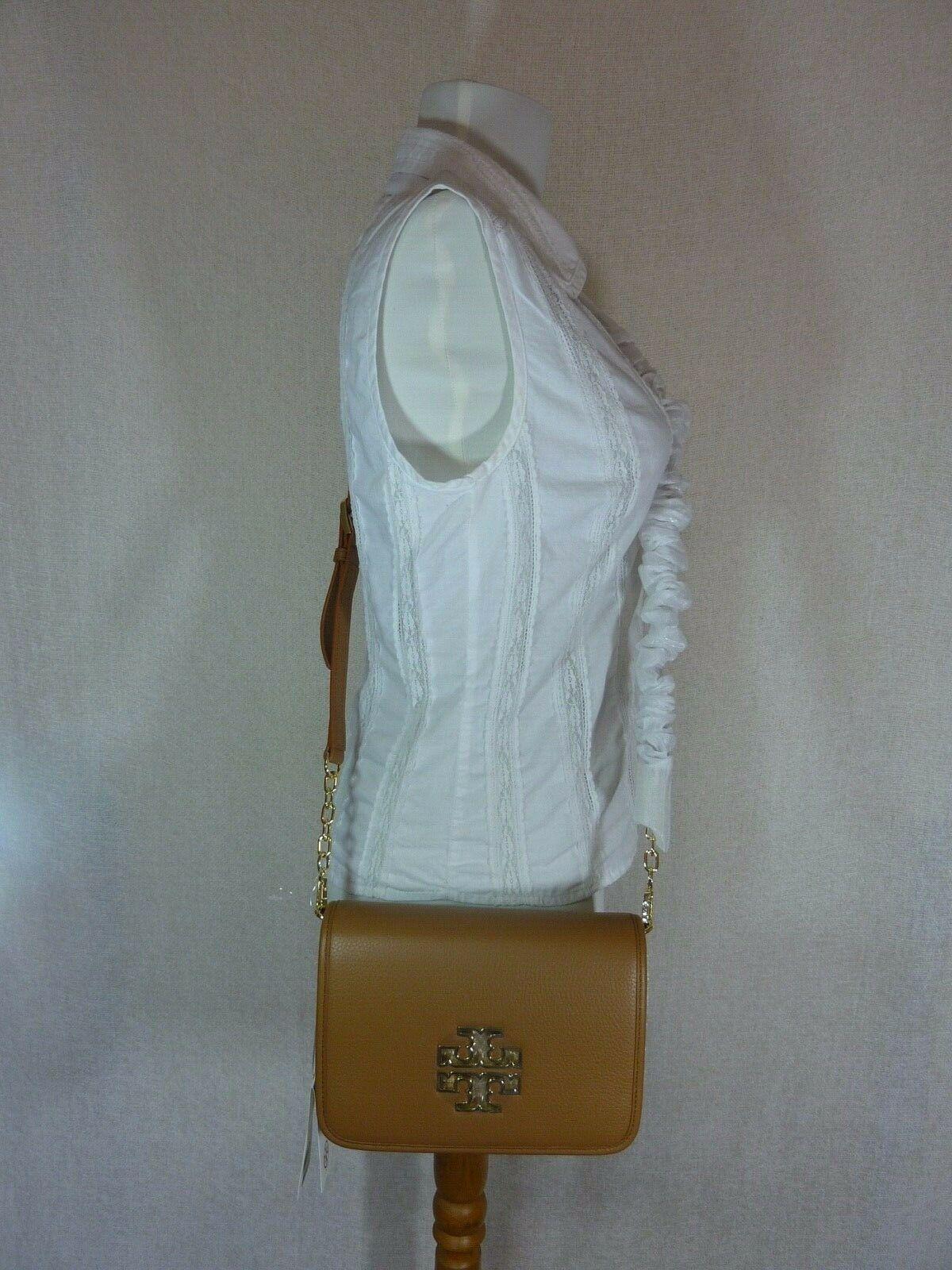 NWT Tory Burch Bark Leather Britten Combo Cross Body bag/Clutch  - $425 image 9