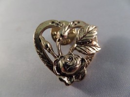Vintage Camco Gold Tone Heart Pin Brooch B6 - $5.93