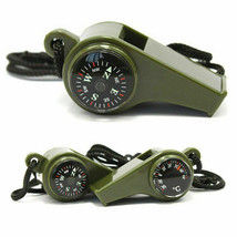 3 in1 Whistle Compass Thermometer Outdoor Hiking Camping Emergency Survi... - $10.65