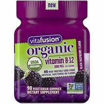Vitafusion Organic B12 Gummy Vitamin, 90 Count - Non-GMO, Gluten-Free, No Gelati